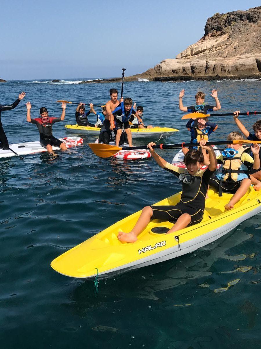 kayak apnea academy tenerife